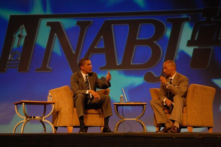 Then-Sen. Barack Obama at the NABJ's 2007 convention.