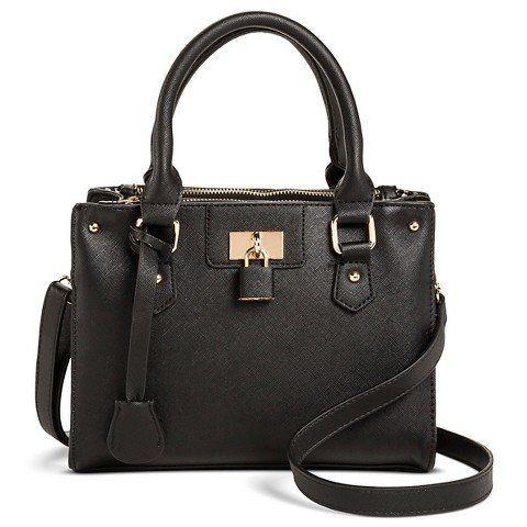 "$34.99, <a href=""http://www.target.com/p/women-s-saffiano-satchel-handbag-with-lock-detail-miztique/-/A-46795495?ref=tgt_adv_"