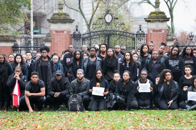 """<span class='image-component__caption' itemprop=""""caption"""">Student activists at Brown University pose for a photo in Nov. 2014. (Photo courtesy of <a href=""""https://www.facebook.com/danielleperelmanphoto/"""">Danielle Perelman</a>)</span>"""