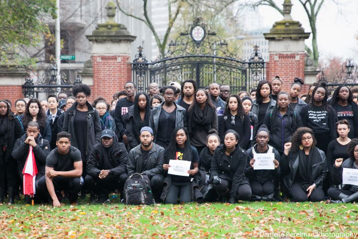 "Student activists at Brown University pose for a photo in Nov. 2014. (Photo courtesy of <a href=""https://www.facebook.com/dan"