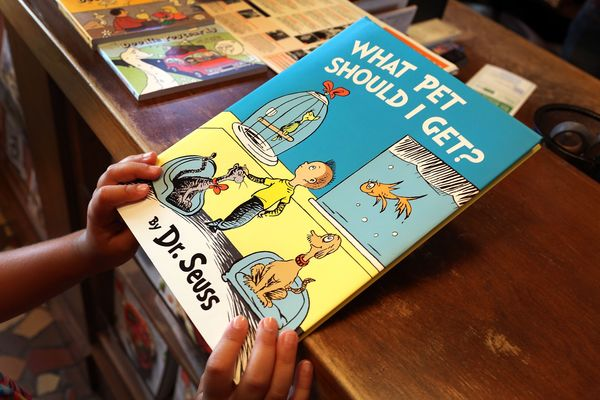 """This previously unpublished picture book <a href=""""http://www.ew.com/article/2015/07/28/new-dr-seuss-book-what-pet-should-i-ge"""