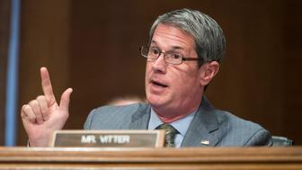 UNITED STATES - JULY 15: Sen. David Vitter, R-La., questions Consumer Financial Protection Bureau Director Richard Cordray during the Senate Banking, Housing and Urban Affairs Committee hearing on the CFPB's semi-annual report to Congress on Wednesday, July 15, 2015. (Photo By Bill Clark/CQ Roll Call)