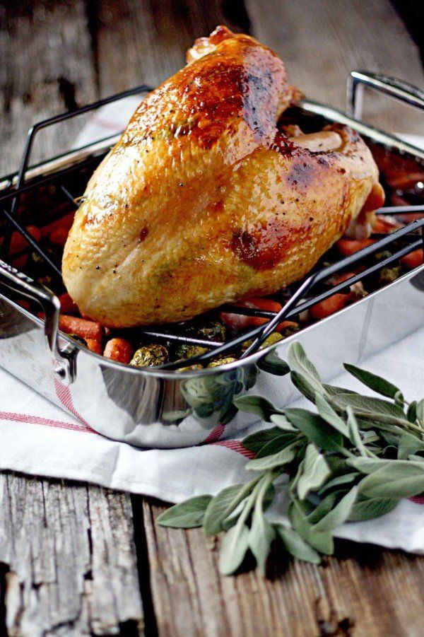 """<strong>Get the <a href=""""http://www.insockmonkeyslippers.com/roasted-turkey-breast-with-maple-bourbon-glaze"""" target=""""_blank"""">"""