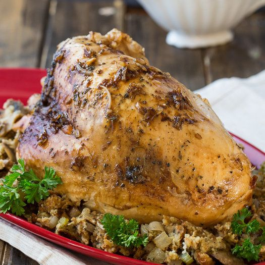 """<strong>Get the<a href=""""http://spicysouthernkitchen.com/crock-pot-turkey-breast/"""" target=""""_blank""""> Slow Cooker Turkey Breasts"""