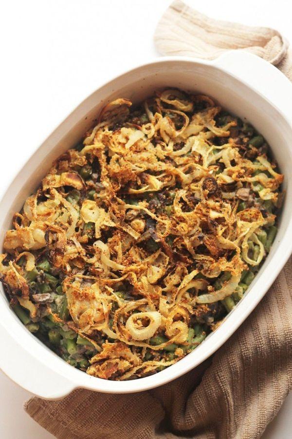 """<strong>Get the <a href=""""http://www.hummusapien.com/healthy-green-bean-casserole-vegan/"""" target=""""_blank"""">Vegan Green Bean Cas"""