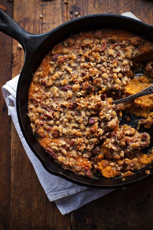 "<strong>Get the <a href=""http://pinchofyum.com/super-easy-sweet-potato-casserole-pecan-crumble"" target=""_blank"">Sweet Potato"