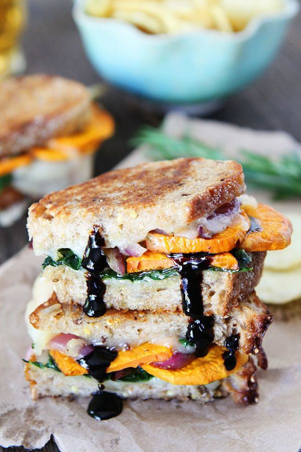 """<strong>Get the <a href=""""http://www.twopeasandtheirpod.com/sweet-potato-and-kale-grilled-cheese/"""" target=""""_blank""""> Sweet Pota"""