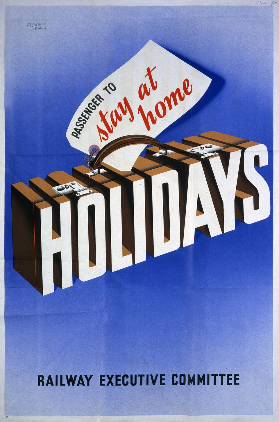 UNITED KINGDOM - APRIL 06:  Stay At Home WWII poster Railway Executive Committee  (Photo by The National Archives/SSPL/Getty