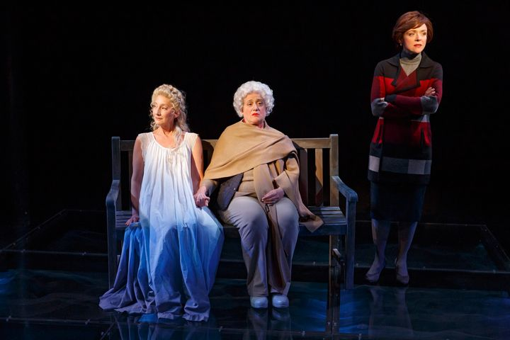 Theresa McCarthy, Mary Testa and Rachel Bay Jones as Robin, Barbara and Laura Bush.