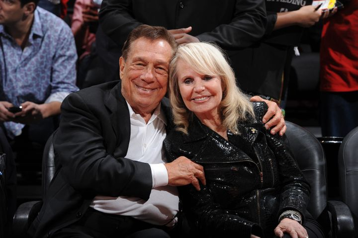 Donald Sterling and his wife Shelly before the Clippers played the Memphis Grizzlies in the 2012 NBA Playoffs.