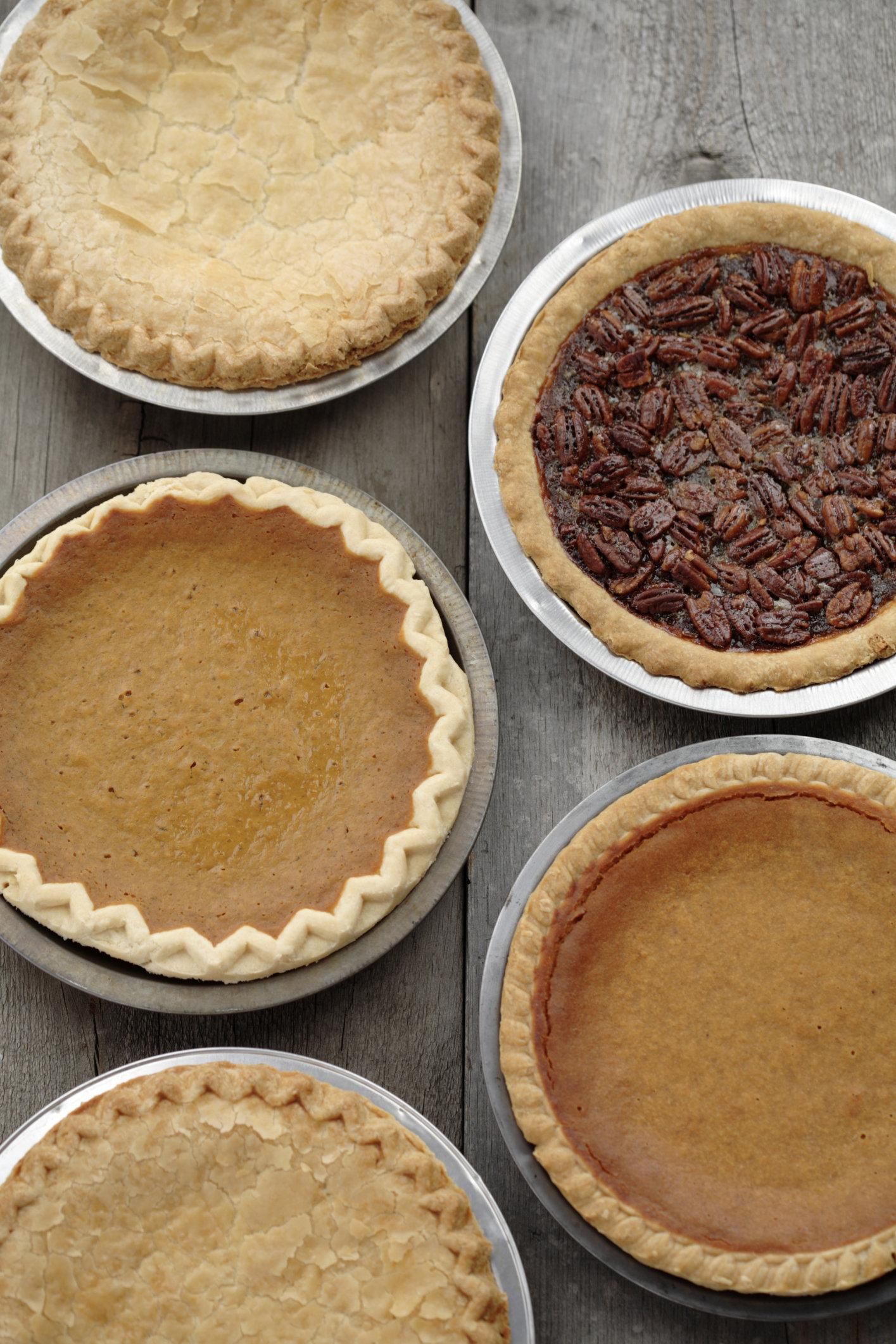 Variety of fresh, homemade pies