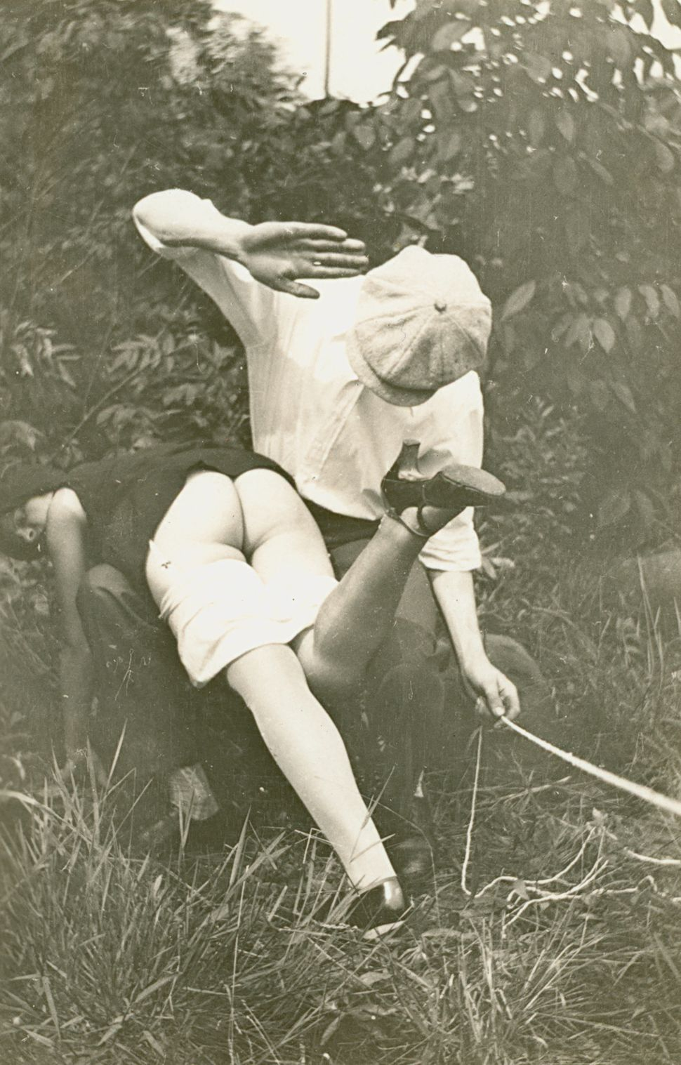 Untitled Self-Portrait of Outdoor Spanking Couple. Collection of Mark Rotenberg.