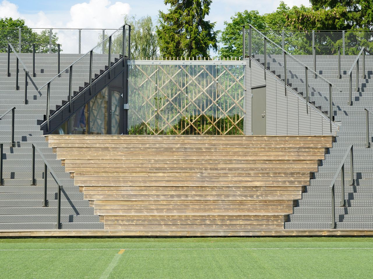 A small football stadium in Lidingö, Sweden, and an example of what World Architecture Festival judges deemed a big impact for a small project.
