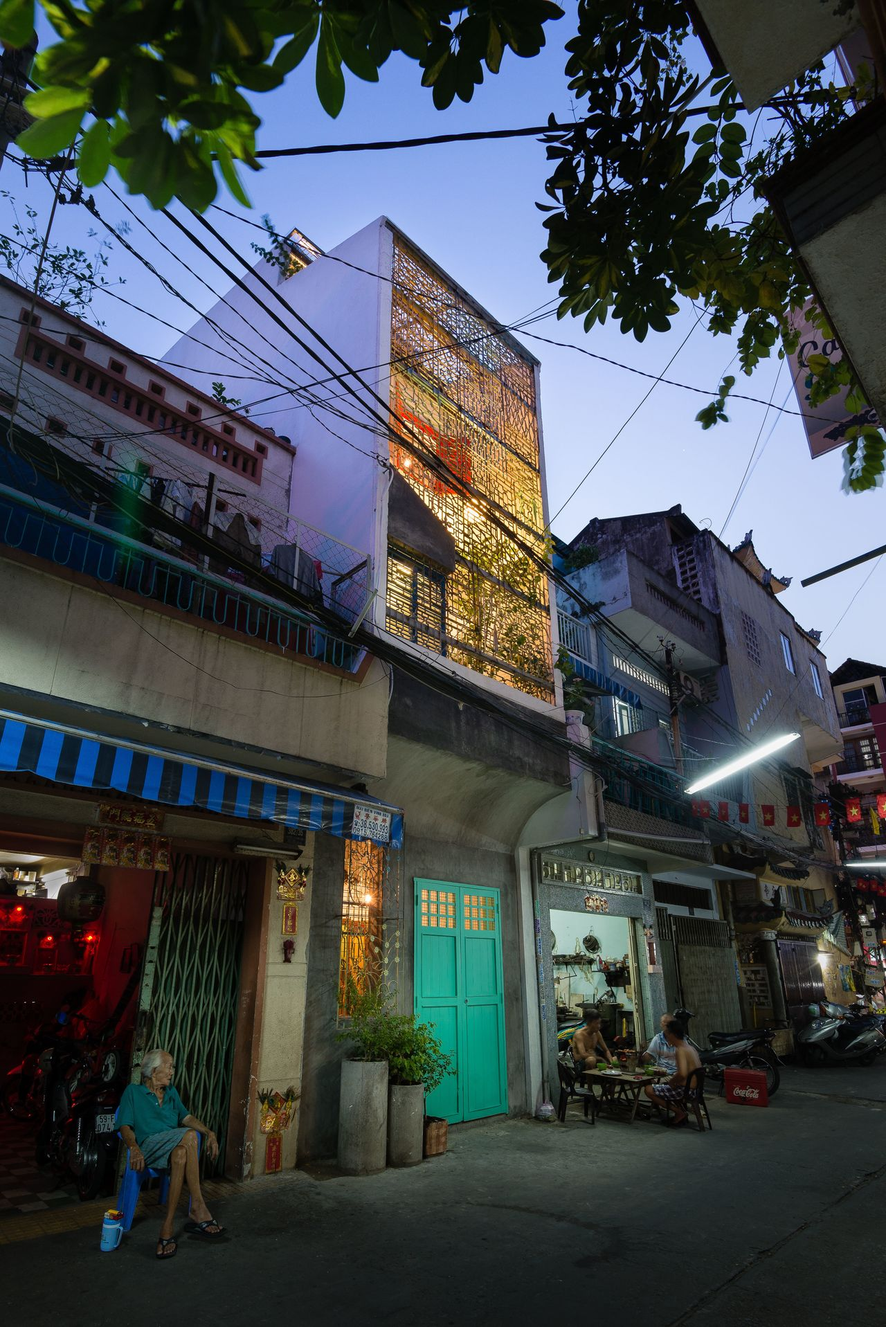 In Ho Chi Minh City, a tribute to Saigon, which includes stacked compartments with varying degrees of exposure to the outdoors.