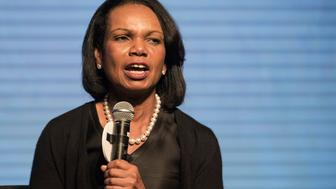 Condoleezza Rice, professor of political science at Stanford University and former U.S. secretary of state, speaks during the launch ceremony for the Lui Che Woo Prize in Hong Kong, China, on Thursday, Sept. 24, 2015. Billionaire Lui Che Woo, chairman and founder of Galaxy Entertainment Group Ltd., launched the 'Lui Che Woo Prize  Prize for World Civilization' today. Photographer: Xaume Olleros/Bloomberg via Getty Images