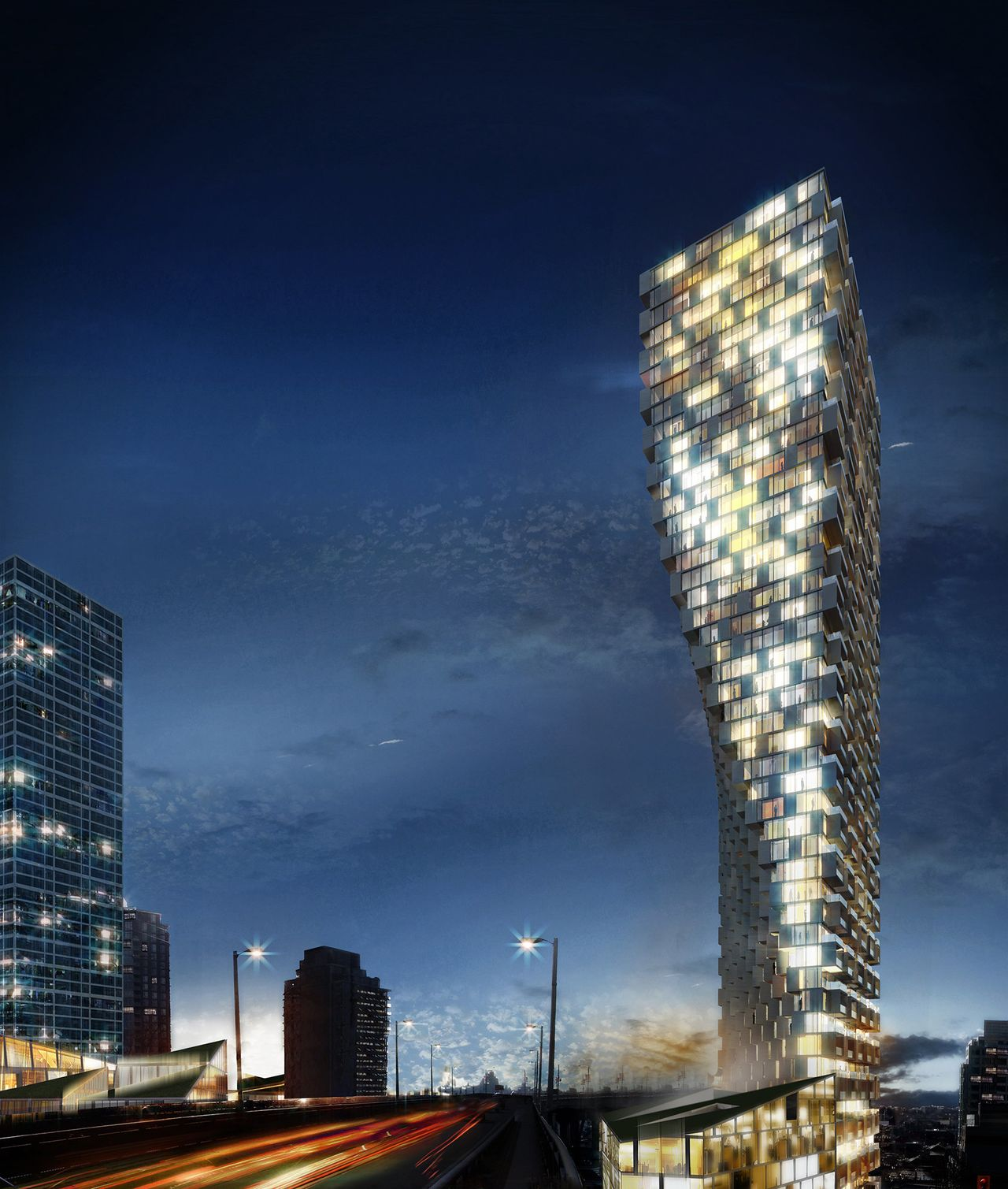 A residential building to be completed in Vancouver.