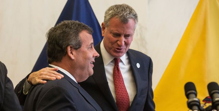 New Jersey Gov. Chris Christie and New York City Mayor Bill de Blasio (D) disagree on whether to accept Syrian refugees.
