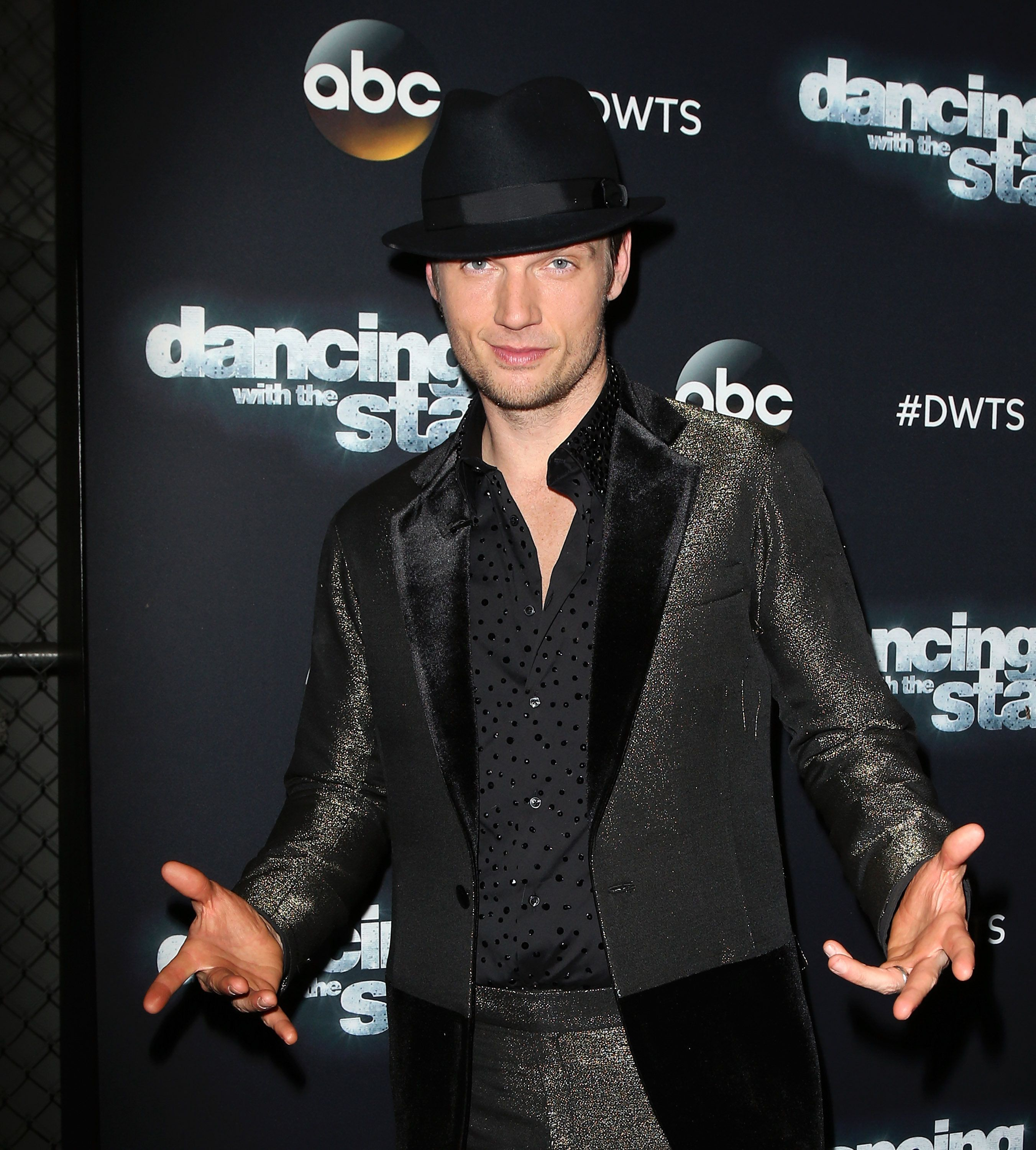 LOS ANGELES, CA - NOVEMBER 16:  Singer Nick Carter attends 'Dancing with the Stars' Season 21 at CBS Televison City on November 16, 2015 in Los Angeles, California.  (Photo by David Livingston/Getty Images)