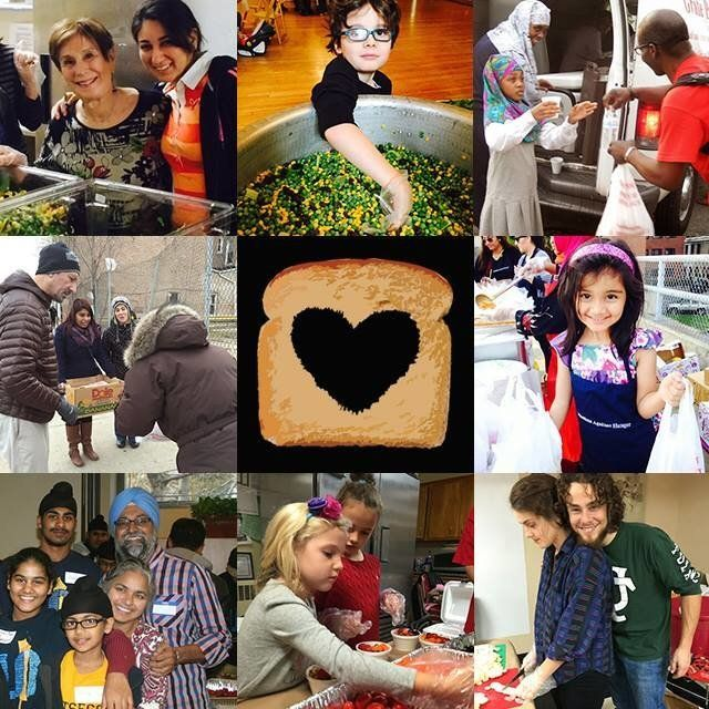 A round up of photos from Muslims Against Hunger service events.