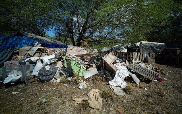 Sanitation is a constant struggle in the camp.