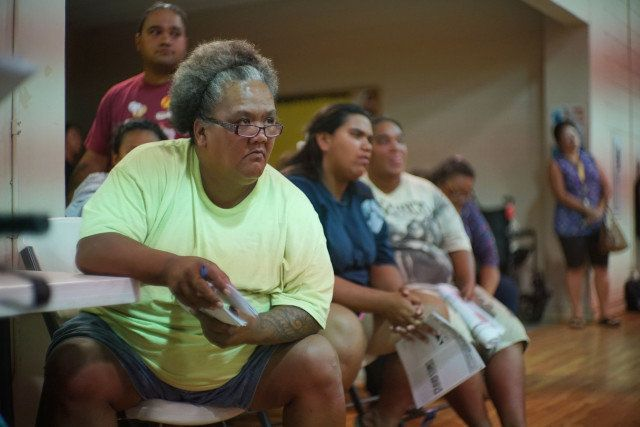 Twinkle Borge attends most Waianae community meetings to make sure people have a way to communicate concerns about The Harbor