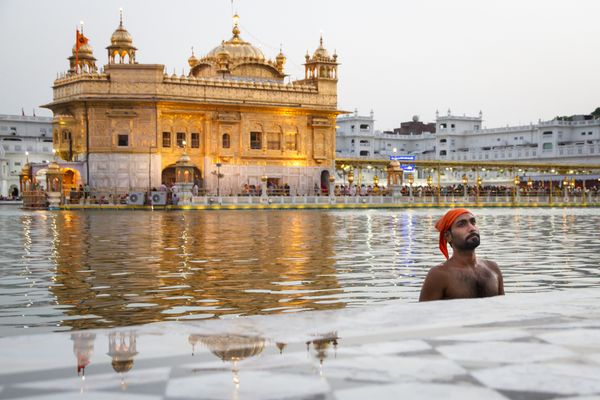 "*Highly Commended*<br>The photographer captured a moment of solitude as a devotee visits the <a href=""http://www.britannica.c"