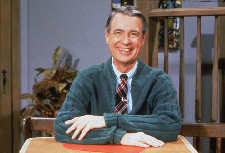 Fred Rogers in one of his signature sweaters.