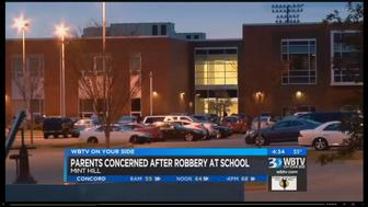 Mint Hill Police were called to Rocky River High School Monday after a 15-year-old boy said he was robbed at gunpoint in the halls.