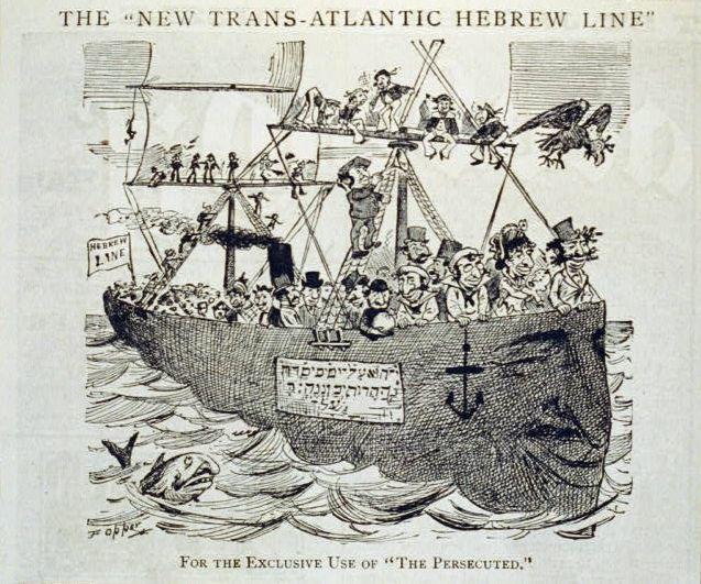 This 1881 cartoon in Puck magazine depictsJewish immigrants.