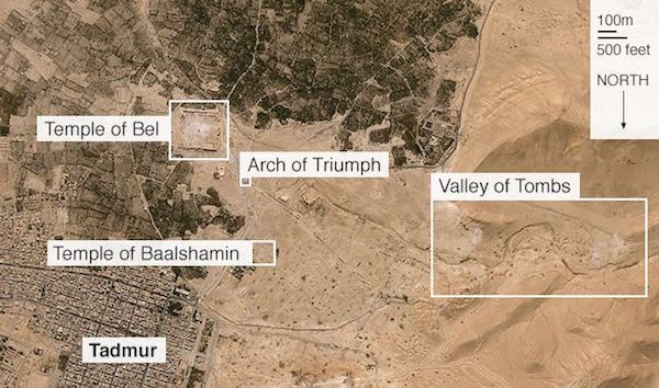 Islamist militants have been systematically destroying the ancient Syrian city of Palmyra.