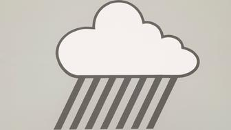 businessman, man, grey suit, white shirt, grey tie, rain cloud, vector, raining cloud shape