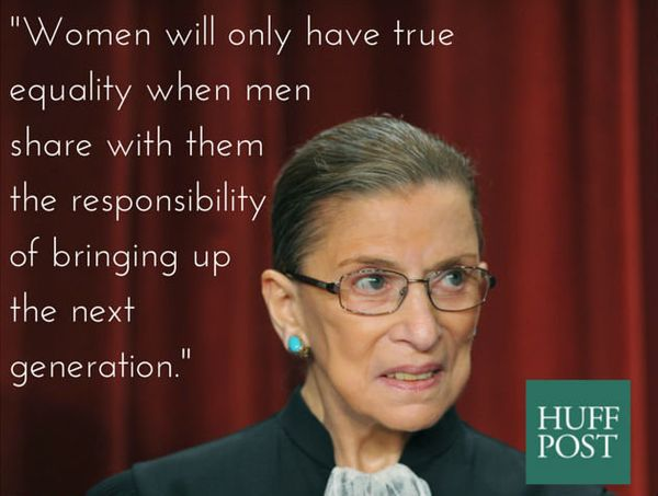 There's a reason she's called notorious. Not only was RBG an integral part of the SCOTUS decision to make marriage equality t