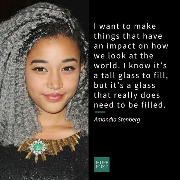 Amandla Stenberg is another outspoken and intelligent teen to be thankful for. The 16-year-old was recently named among <a hr