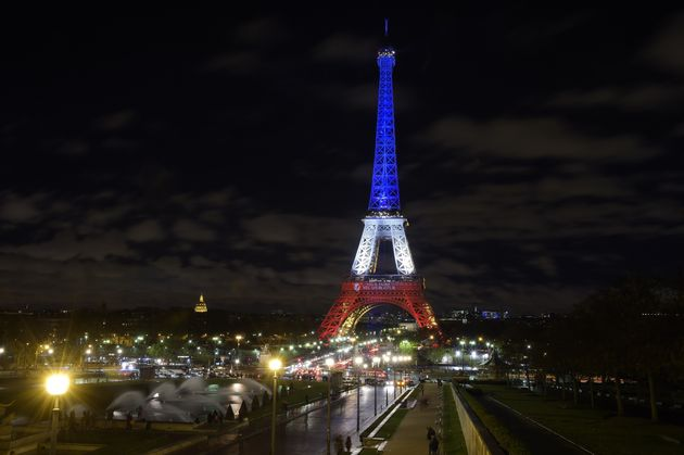 "<span class='image-component__caption' itemprop=""caption"">The Eiffel Tower illuminated on Nov. 17, 2015, with the French national colors in tribute to the victims of the Paris terror attacks.</span>"