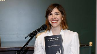 NEW YORK, NY - OCTOBER 28:  Carrie Brownstein in conversation with Gaby Hoffmann at Barnes & Noble Union Square on October 28, 2015 in New York City.  (Photo by John Lamparski/Getty Images)