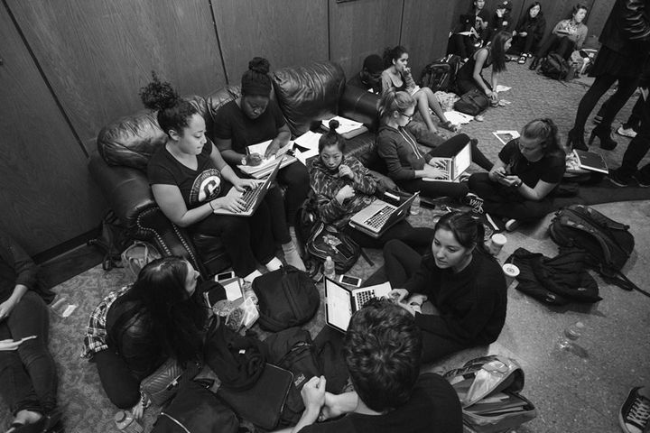 Occidental College students have occupied the administrative building since Nov. 17 to demand, among other things, the r