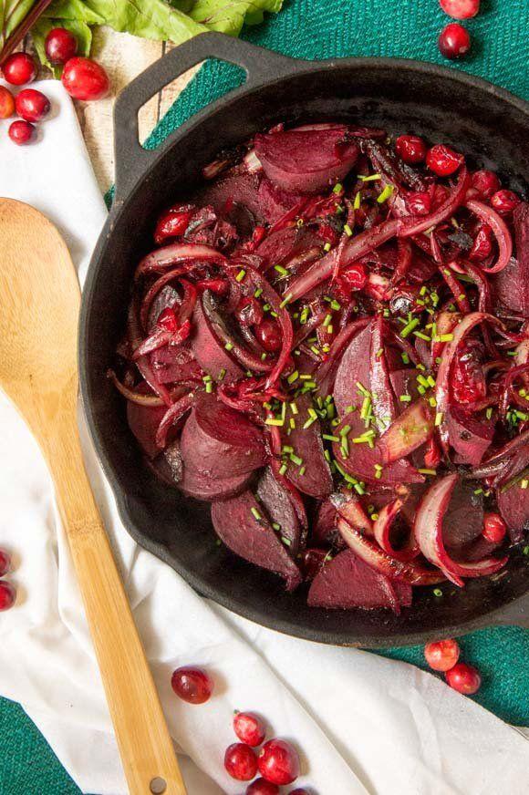 """<strong>Get the <a href=""""http://www.forageddish.com/blog/2015/11/16/beet-cranberry-saut"""">Beet & Cranberry Sauté</a"""