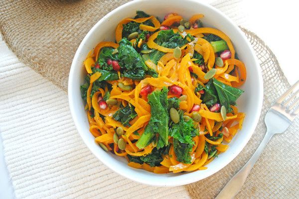 "<strong>Get the <a href=""http://www.emilieeats.com/roasted-butternut-squash-fall-kale-salad/"">Roasted Butternut Squash Kale S"