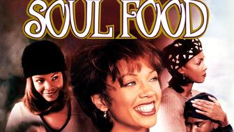 One sheet movie poster advertises 'Soul Food,' directed by George Tillman Jr. and starring Vanessa Williams, Vivica Fox, Nia Long, Irma P Hall, Michael Beach and Mekhi Phifer (20th Century Fox), 1997. (Photo by John D Kisch/Separate Cinema Archive/Getty Images)