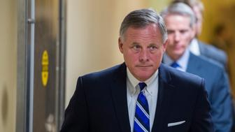 UNITED STATES - SEPTEMBER 22: Sen. Richard Burr (R-NC) leaves the Capitol following a vote on Tuesday, Sept. 22, 2015. (Photo By Bill Clark/CQ Roll Call)