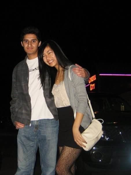 Shalin Shah and Frances Chen on their first date in high school.