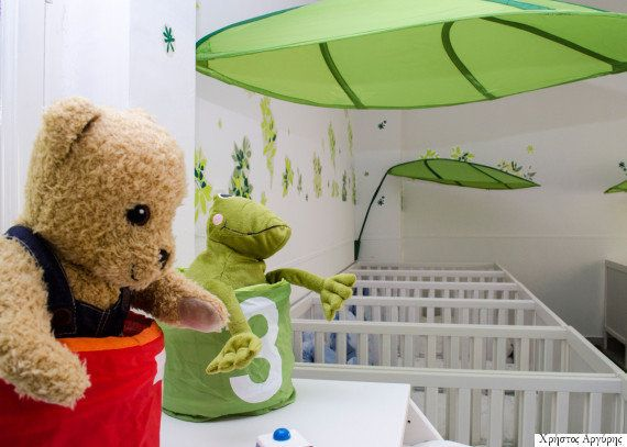 The babies may not actually grasp the transformation of the space that surrounds them, but their parents are impressed by the