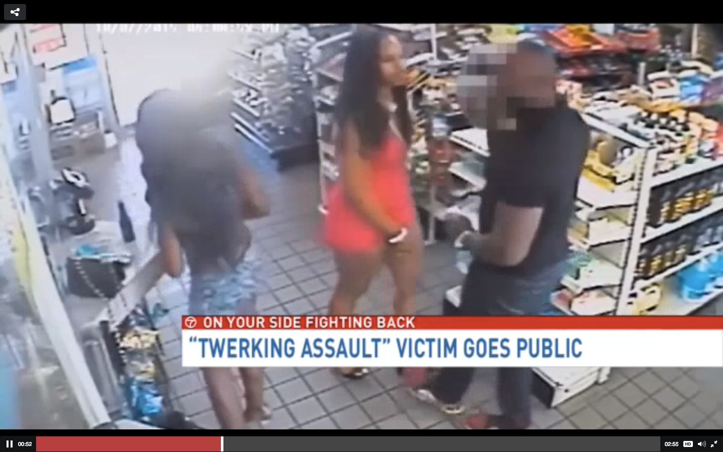 A middle school teacher is speaking out after two women were filmed groping and twerking on him inside of a convenience store.