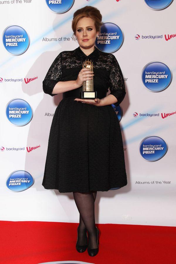 Adele black dress