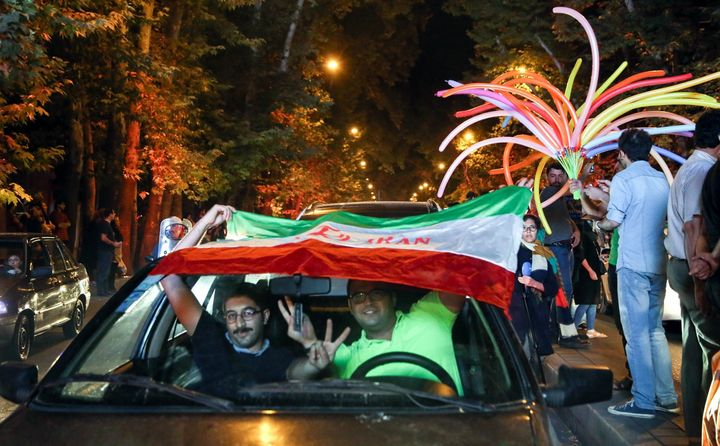 Iranians took to the streets to celebrate after the nuclear deal was concluded in July.