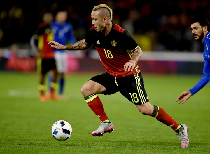 44fa8c4ce1a Radja Nainggolan playing for Belgium during a match against Italy in  November.