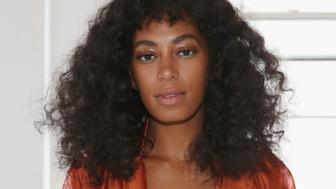 NEW YORK, NY - SEPTEMBER 14:  Solange Knowles attends the Eckhaus Latta fashion show during Spring 2016 New York Fashion Week on September 14, 2015 in New York City.  (Photo by Mireya Acierto/Getty Images)