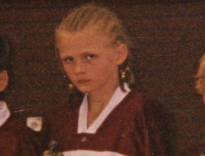 "As a pre-teen, Kristaps Porzingis rocked a ""Straight Outta Latvia"" hairstyle."