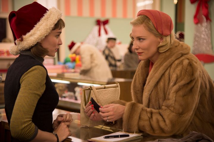 "Rooney Mara and Cate Blanchett star as lovers in 1950s New York in ""Carol."""