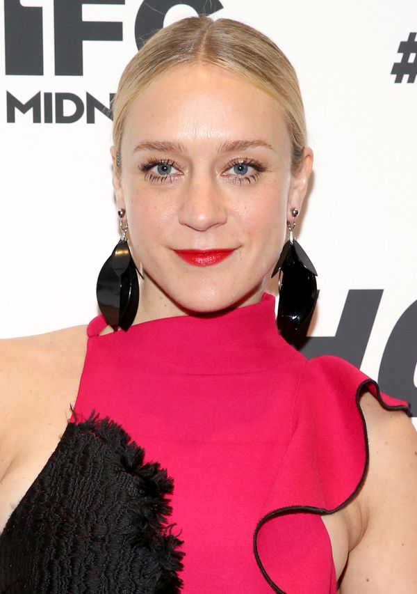 "Sevigny gave off '60s vibes with this eclectic ensemble she wore to the ""#Horror"" at MoMA Titus One event in New York Ci"